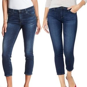 AG JEANS the Prima Crop mid-rise Cigarette Crop